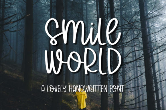Print on Demand: Smile World Script & Handwritten Font By bitongphoto