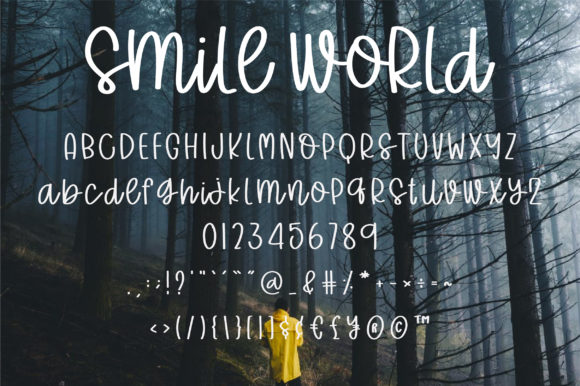Print on Demand: Smile World Script & Handwritten Font By BitongType - Image 8