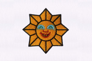 Smiling Sun Summer Embroidery Design By DigitEMB