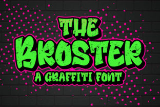 Print on Demand: The Broster Display Font By Blankids Studio
