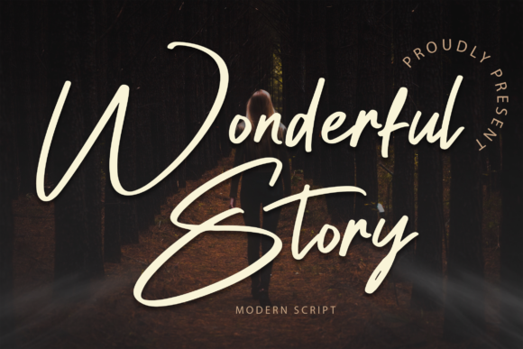 Print on Demand: Wonderful Story Script & Handwritten Font By lyanatha