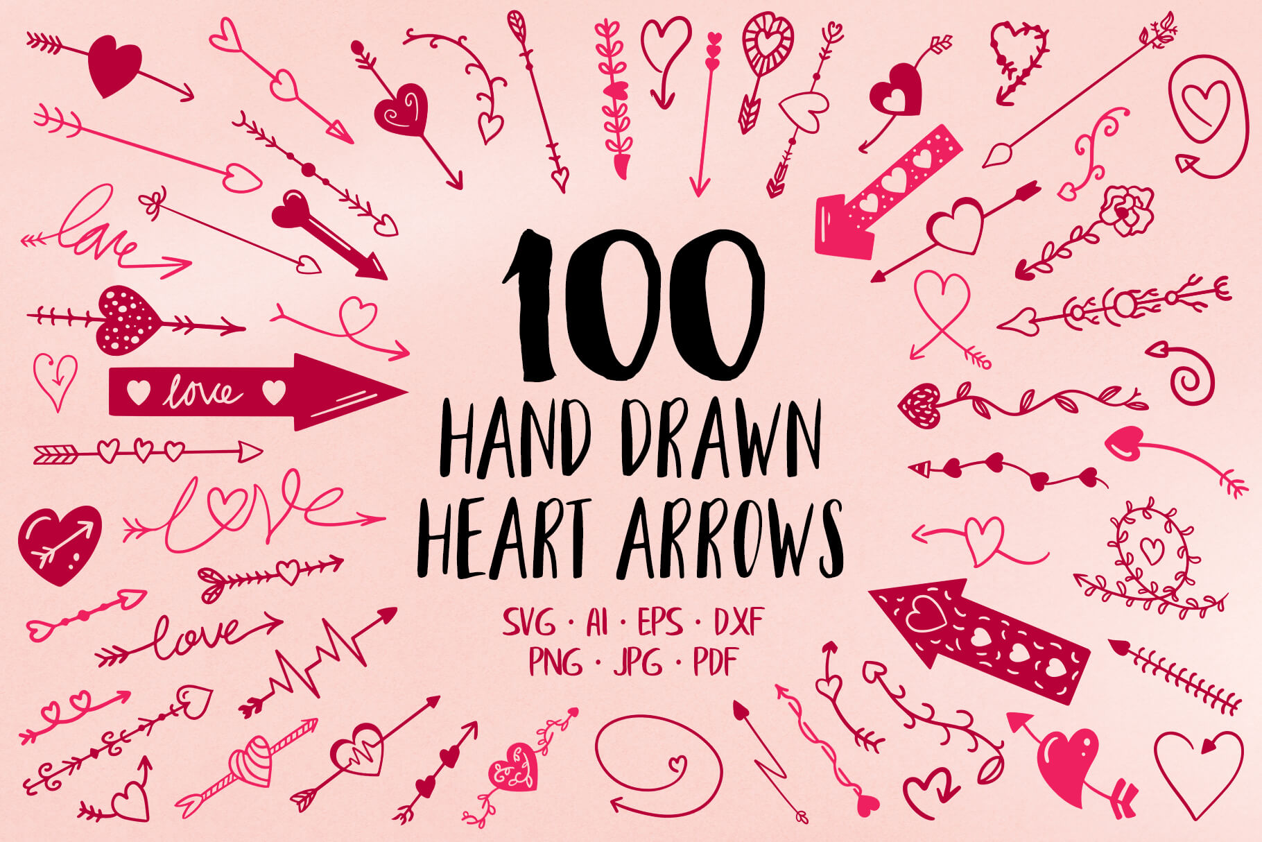 Download Free 100 Hand Drawn Heart Arrow Svg Files Graphic By Jonas Stensgaard for Cricut Explore, Silhouette and other cutting machines.