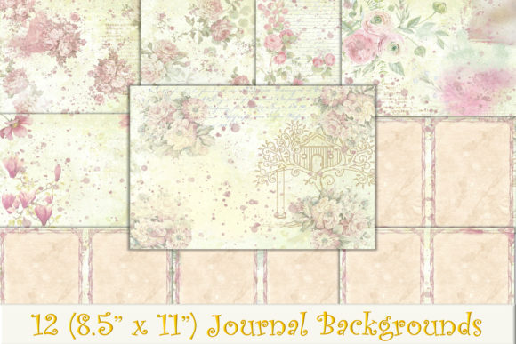 Print on Demand: 12 Shabby Chic Backgrounds  Graphic Backgrounds By The Paper Princess