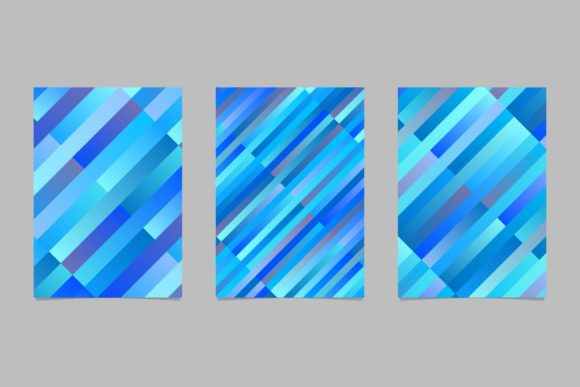 3 Blue Rectangle Page Backgrounds Graphic Print Templates By davidzydd