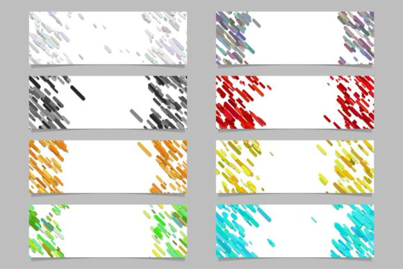 Abstract Banner Background Set Graphic Web Elements By davidzydd
