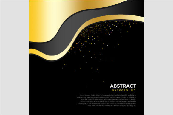 Abstrat Golden Black Background Graphic Backgrounds By griyolabs