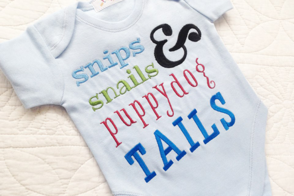 Baby Boys Snips and Snails Embroidery Babies & Kids Quotes Embroidery Design By DesignedByGeeks - Image 1
