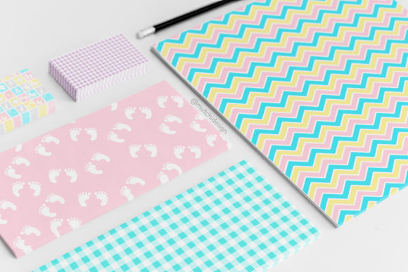 Print on Demand: Baby Candy Colors Digital Papers Graphic Backgrounds By Mutchi Design - Image 2
