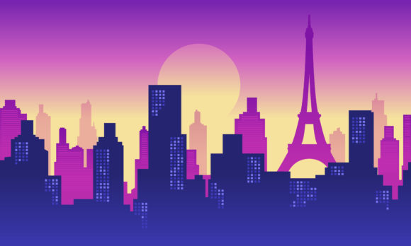 Background Paris City Building Graphic Backgrounds By cityvector91