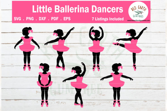 Download Free Ballerina Girls Poses Ballet Girls Graphic By Redearth And for Cricut Explore, Silhouette and other cutting machines.