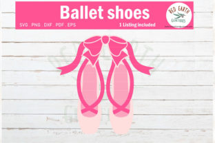 Ballerina Shoes with Bow,ballet Slippers Graphic Crafts By redearth and gumtrees