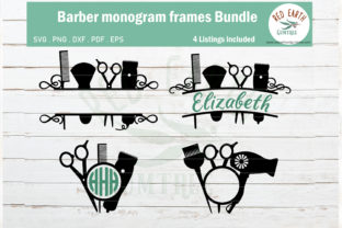Barber Hairstylist Monogram Bundle Graphic Crafts By redearth and gumtrees