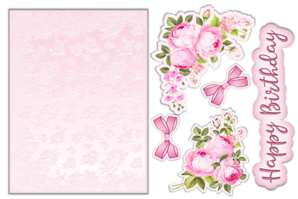 Download Free Birthday Card 12 Tags Insert Envelope Graphic By The Paper for Cricut Explore, Silhouette and other cutting machines.