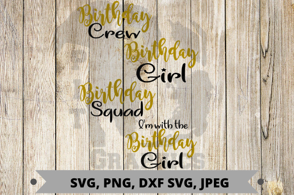Birthday Crew Graphic Graphic Templates By Pit Graphics