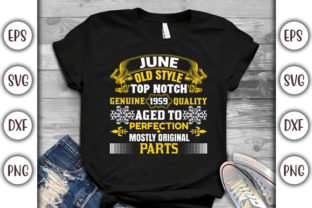 Print on Demand: Birthday T-shirt Design- June Old Style Graphic Print Templates By GraphicsBooth