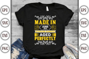 Print on Demand: Birthday T-shirt Design- Made in June Graphic Print Templates By GraphicsBooth