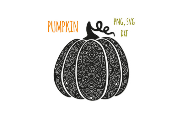 Download Free Bohemian Scroll Pumpkin Graphic By Bunart Creative Fabrica for Cricut Explore, Silhouette and other cutting machines.