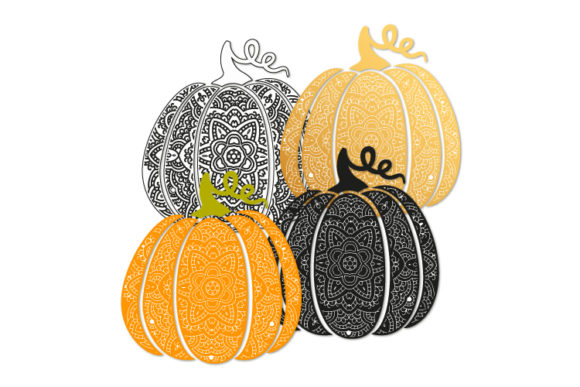 Download Free Bohemian Scroll Pumpkin Graphic By Bunart Creative Fabrica SVG Cut Files