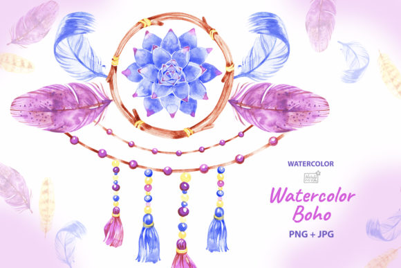 Boho Dreamcatcher Clipart Graphic Illustrations By NataliMyaStore