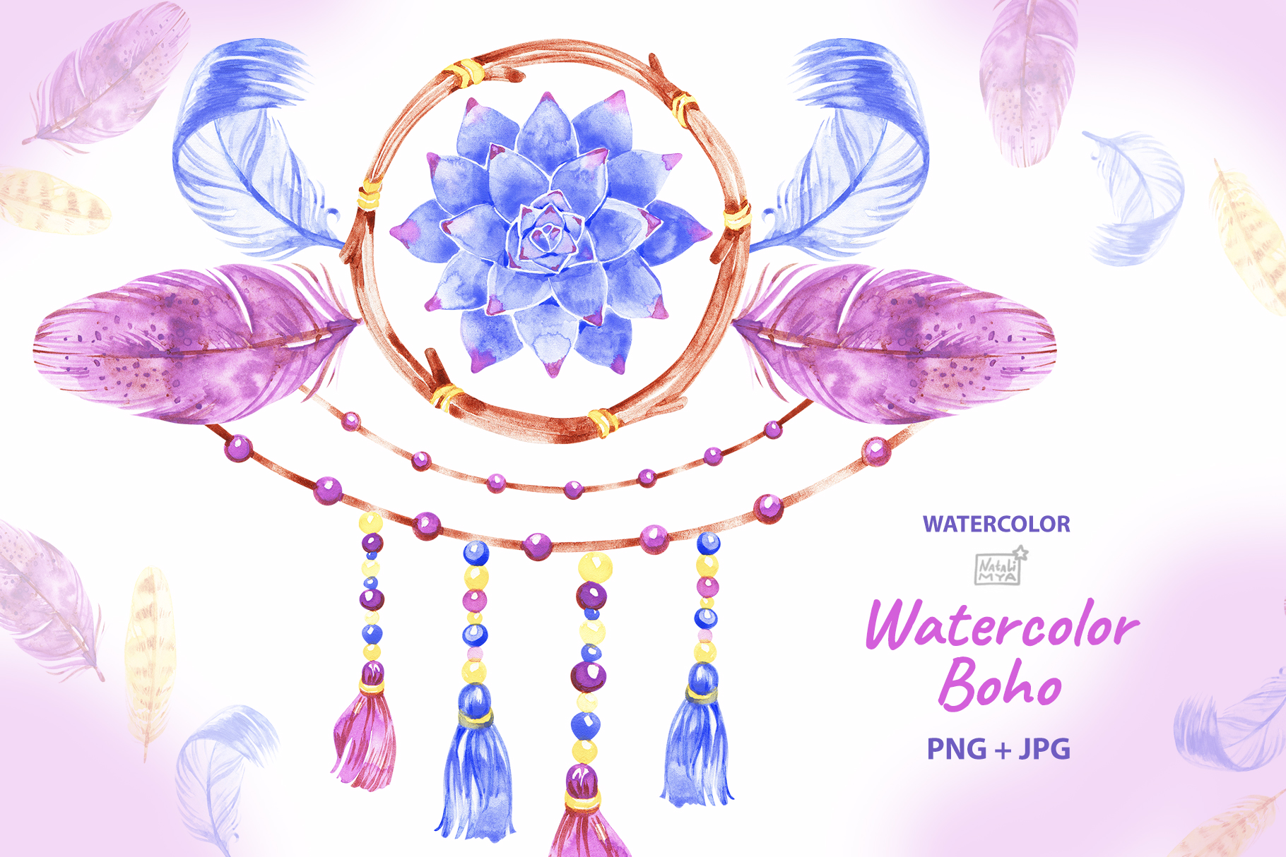 Download Free Boho Dreamcatcher Clipart Graphic By Natalimyastore Creative SVG Cut Files