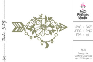 Download Free Boho Style Arrow With Flowers Graphic By Cutepicturesstudio SVG Cut Files