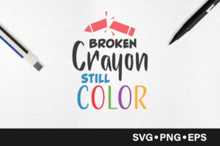 Download Free Broken Crayon Still Color Quote Graphic By Vectorbundles for Cricut Explore, Silhouette and other cutting machines.
