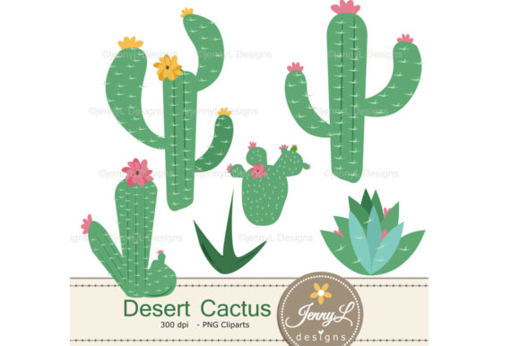 Download Free Cactus Desert Digital Papers Graphic By Jennyl Designs for Cricut Explore, Silhouette and other cutting machines.