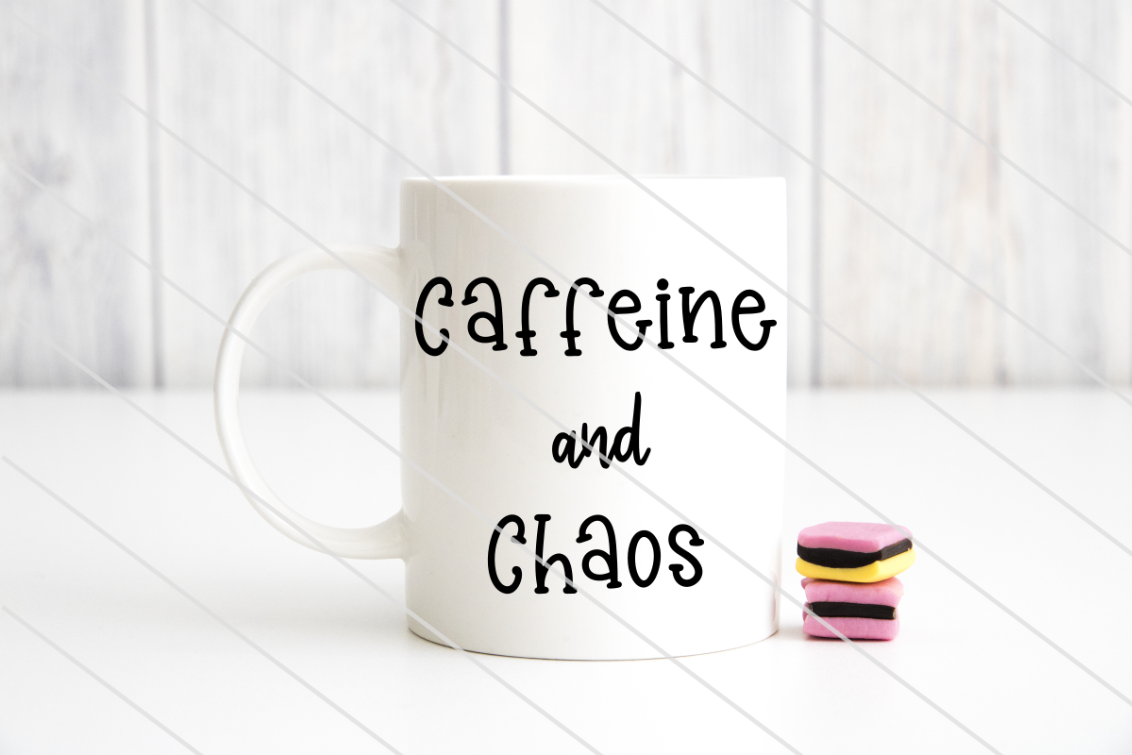 Download Free Caffeine And Chaos Grafik Von Amy Anderson Designs Creative for Cricut Explore, Silhouette and other cutting machines.