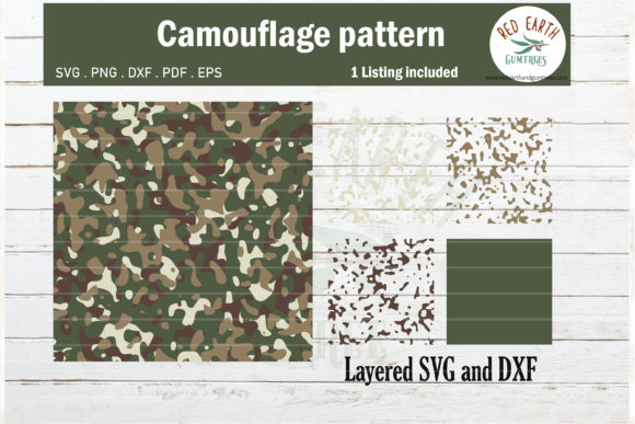 Camouflage Template Pattern  Graphic Crafts By redearth and gumtrees