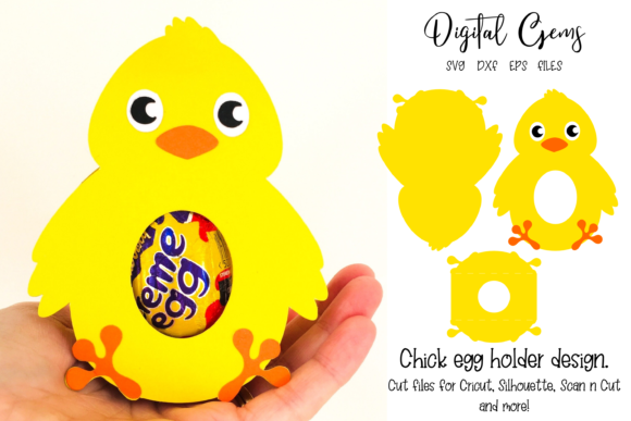 Chick Egg Holder Design Grafik 3D SVG von Digital Gems