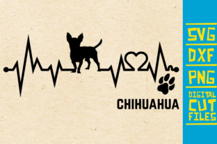 Chihuahua Dog Ekg Graphic Crafts By svgyeahyouknowme