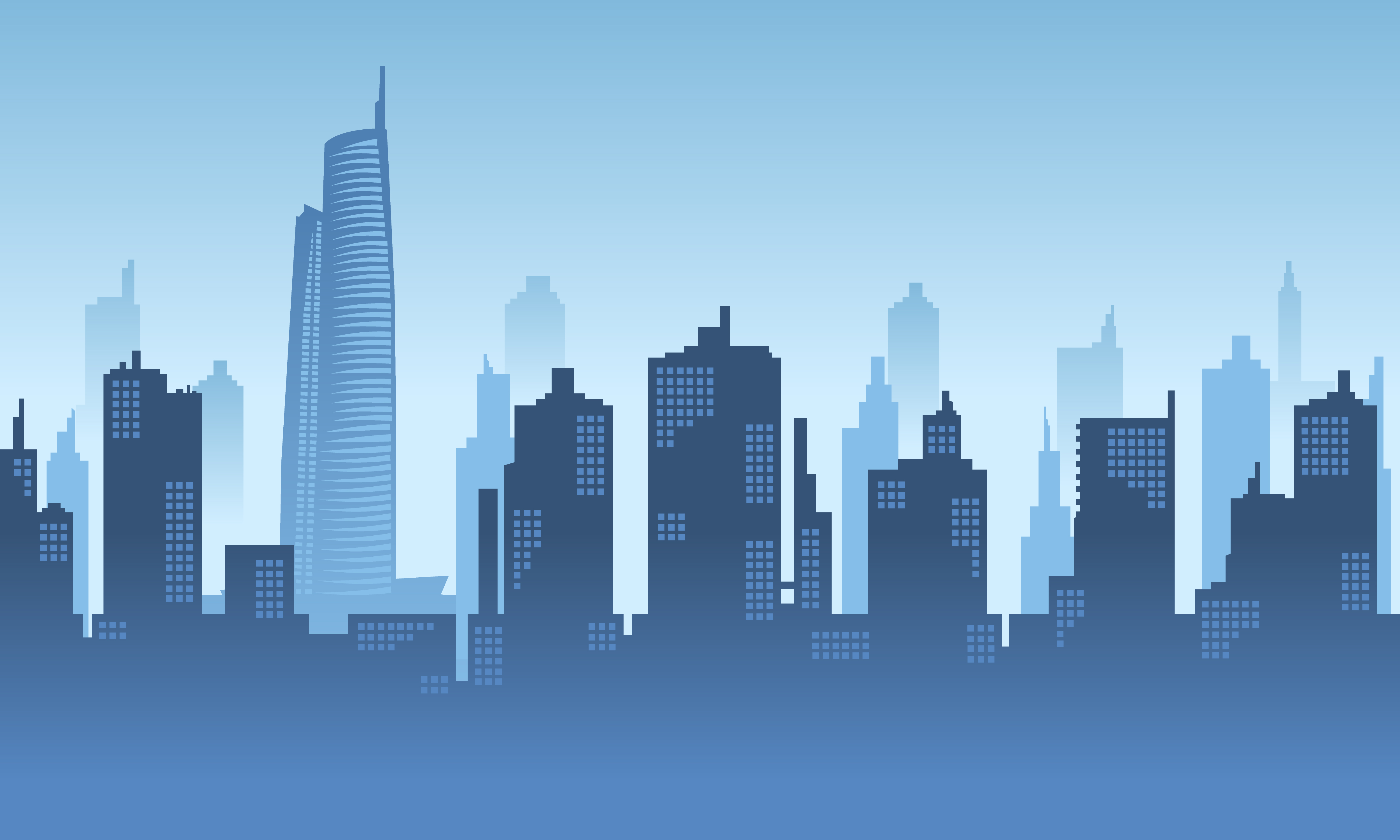Download Free City Tower Vector Background Graphic By Cityvector91 Creative for Cricut Explore, Silhouette and other cutting machines.