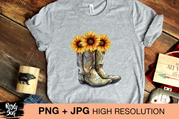 Print on Demand: Cowgirl Boots Graphic Crafts By roxysvg26