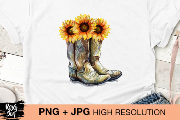 Print on Demand: Cowgirl Boots Graphic Crafts By roxysvg26 - Image 2
