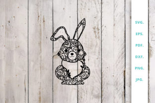 Download Free Cute Bunny Out Of Mandala 1 Graphic By Sintegra Creative Fabrica for Cricut Explore, Silhouette and other cutting machines.