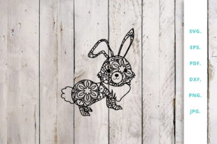 Download Free Cute Bunny Out Of Mandala 2 Graphic By Sintegra Creative Fabrica SVG Cut Files