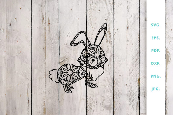 Print on Demand: Cute Bunny out of Mandala 2 Graphic Crafts By Sintegra