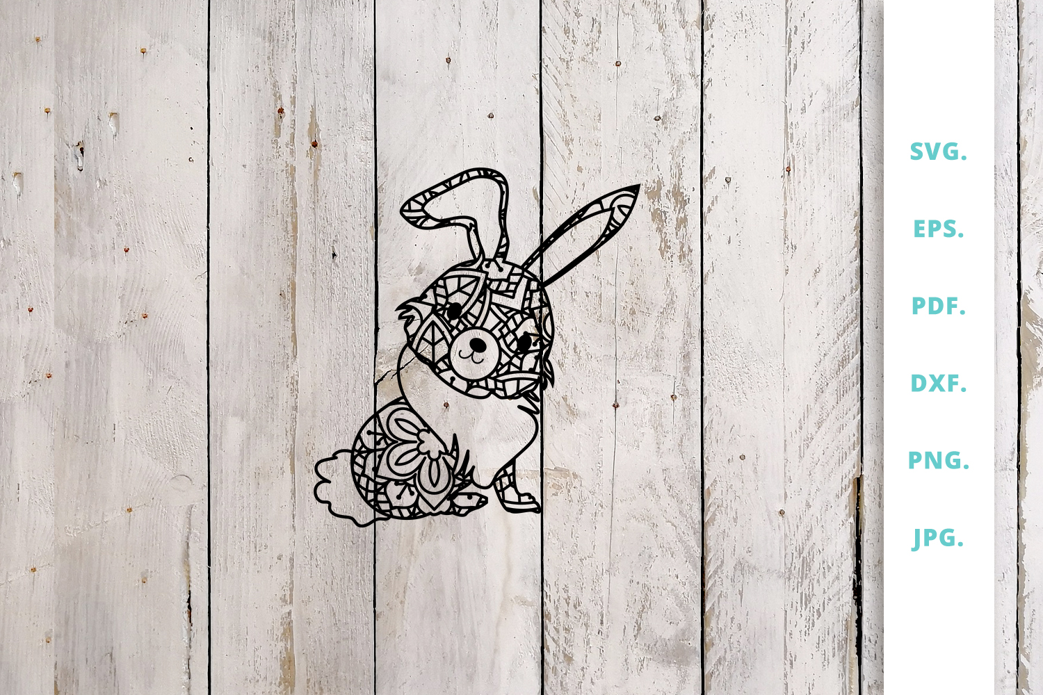 Download Free Cute Bunny Out Of Mandala 3 Graphic By Sintegra Creative Fabrica for Cricut Explore, Silhouette and other cutting machines.