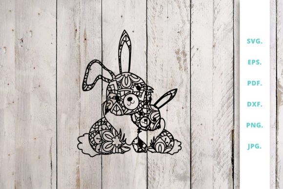 Download Free Cute Bunny Out Of Mandala 4 Graphic By Sintegra Creative Fabrica for Cricut Explore, Silhouette and other cutting machines.