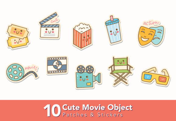 Cute Movie Icons Graphic Icons By Big Barn Doodles
