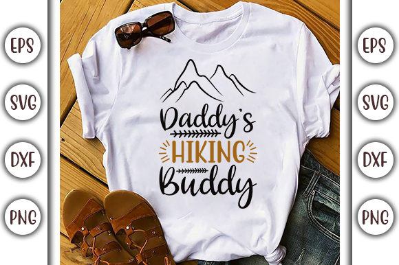 Download Free Daddy S Hiking Adventure Design Graphic By Graphicsbooth for Cricut Explore, Silhouette and other cutting machines.