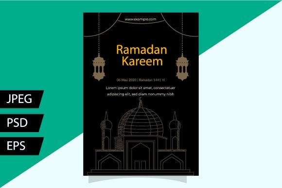Download Free Dark Ramadan Flyer Graphic By Griyolabs Creative Fabrica for Cricut Explore, Silhouette and other cutting machines.