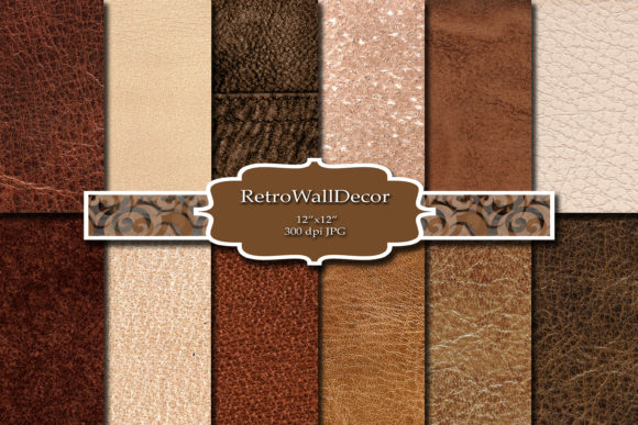 Print on Demand: Digital Leather Background Graphic Backgrounds By retrowalldecor - Image 1