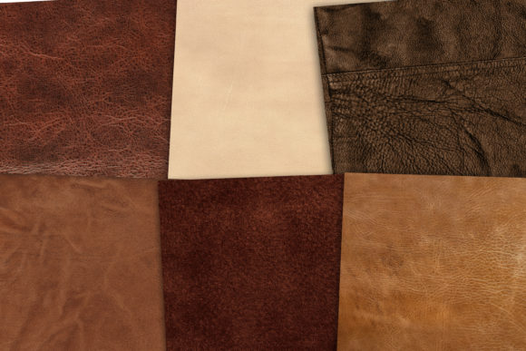 Print on Demand: Digital Leather Background Graphic Backgrounds By retrowalldecor - Image 2