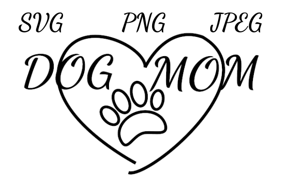 Download Free Dog Mom Heart And Paw Drawing Graphic By Almdrs Creative Fabrica for Cricut Explore, Silhouette and other cutting machines.