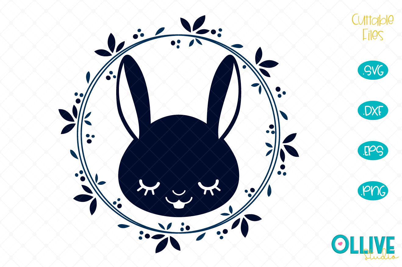 Download Free Easter Bunny Wreath Cut File Graphic By Ollivestudio Creative for Cricut Explore, Silhouette and other cutting machines.