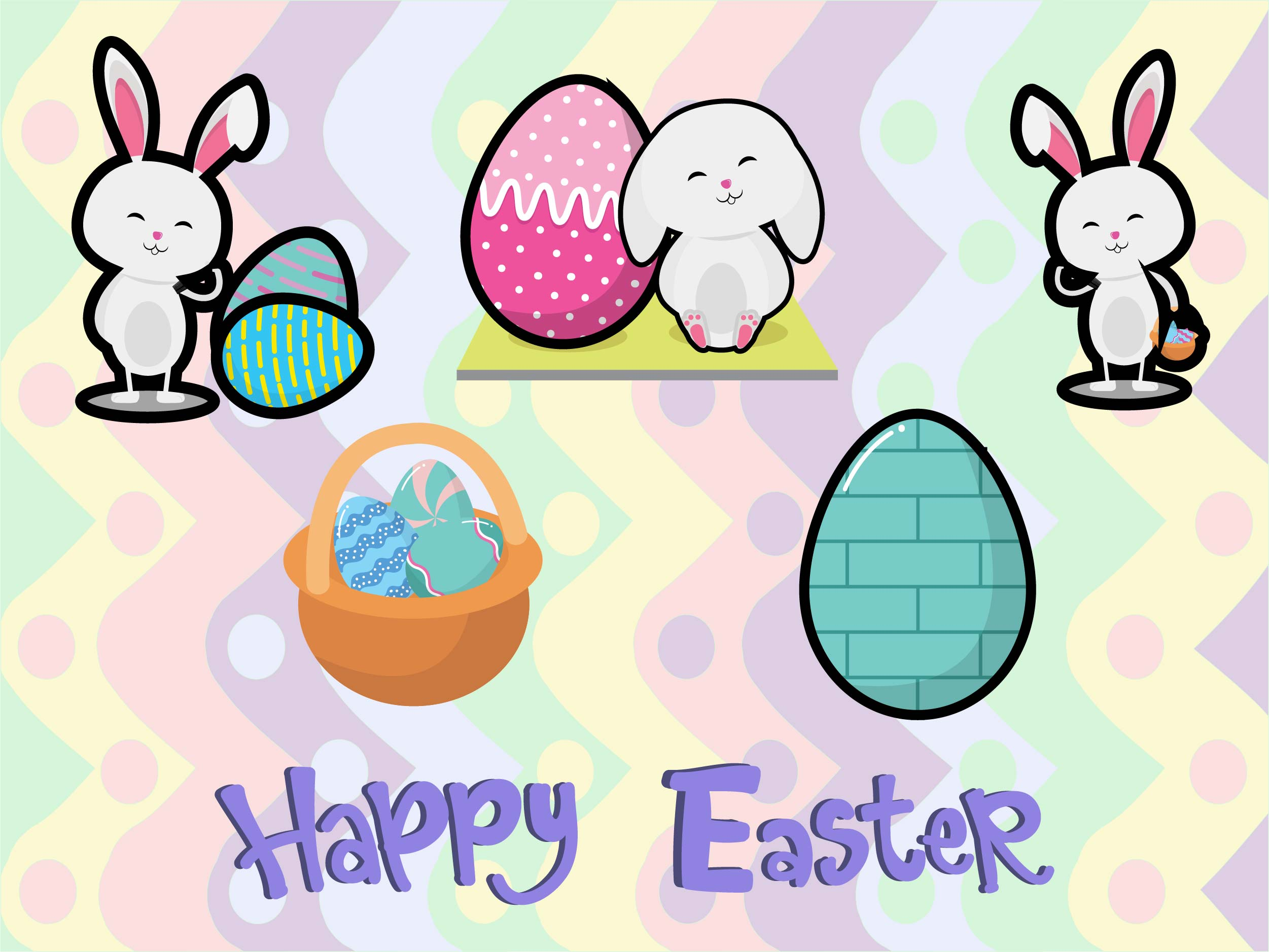 Download Free Easter Graphic By Purplebubble Creative Fabrica for Cricut Explore, Silhouette and other cutting machines.