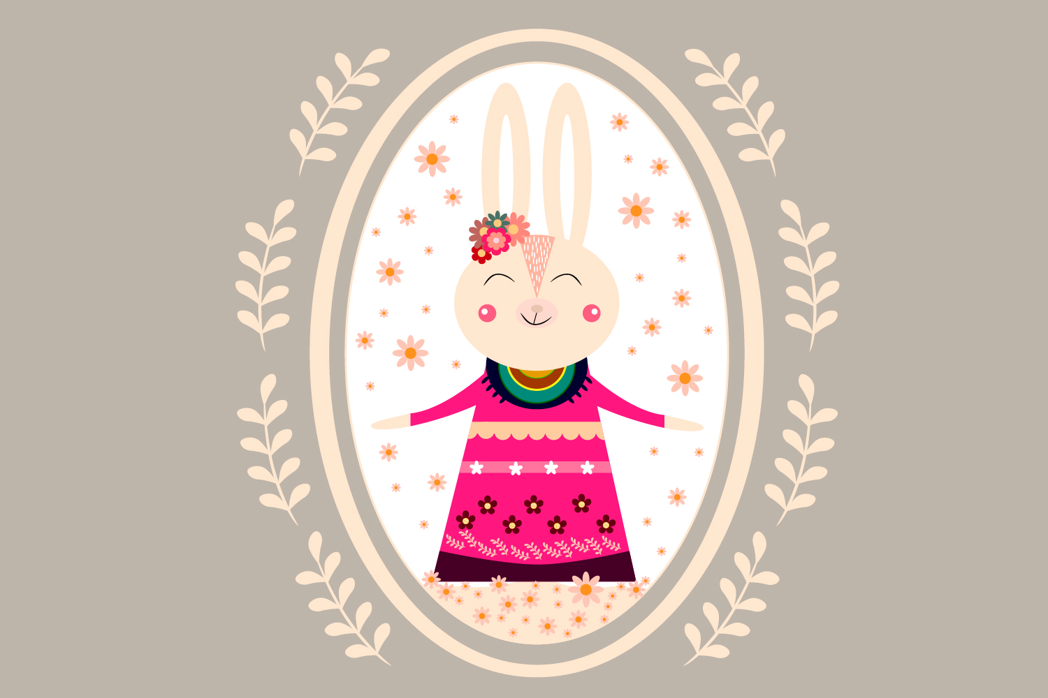 Download Free Easter Bunny Bunny Illustration Graphic By Igraphic Studio for Cricut Explore, Silhouette and other cutting machines.