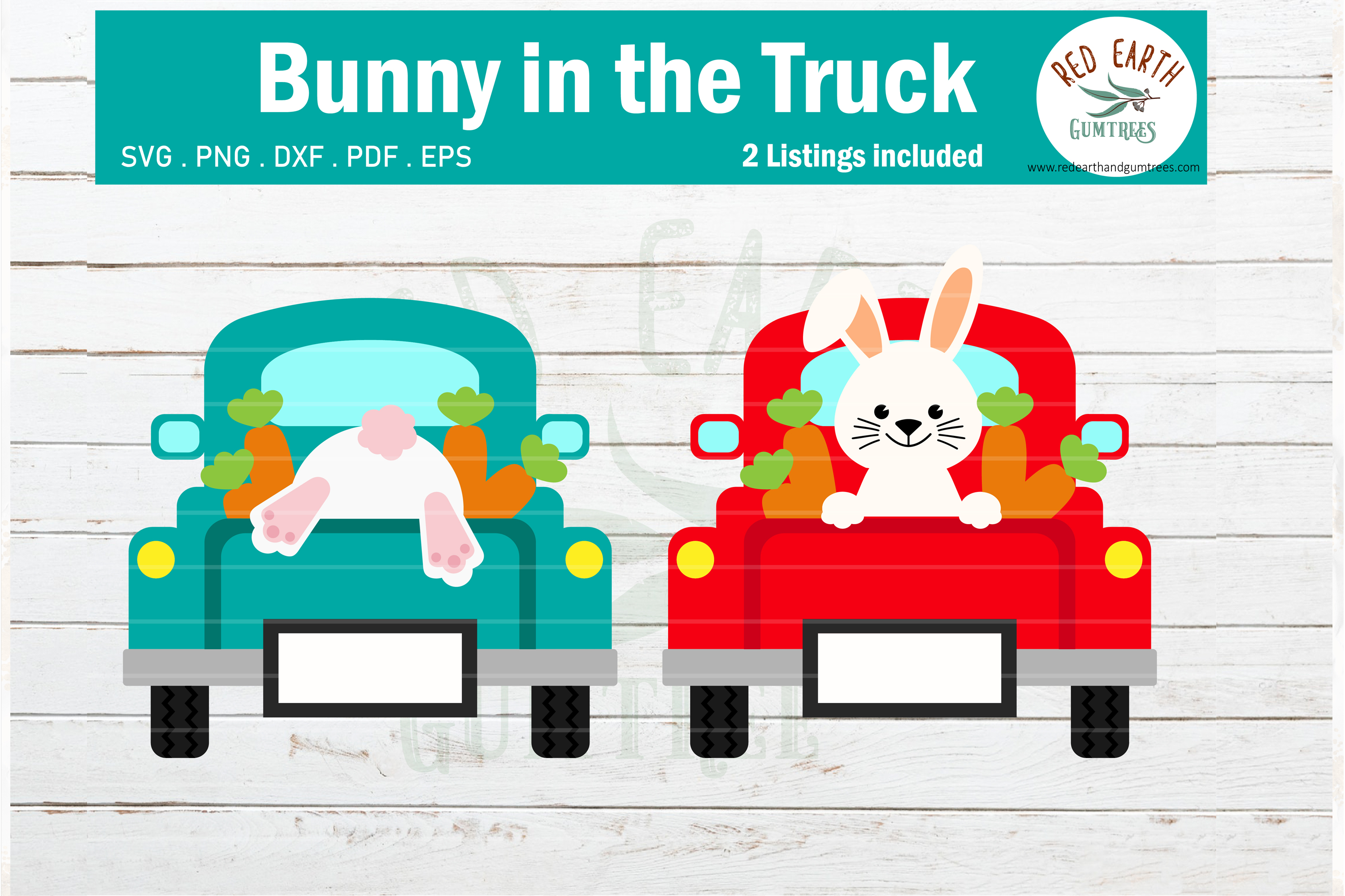 Download Free Easter Bunny In Back Of Pickup Truck Graphic By Redearth And for Cricut Explore, Silhouette and other cutting machines.