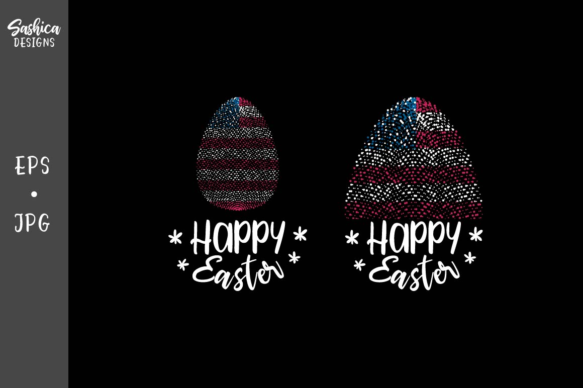 Easter Egg With American Flag Vector Graphic By Sashica Designs